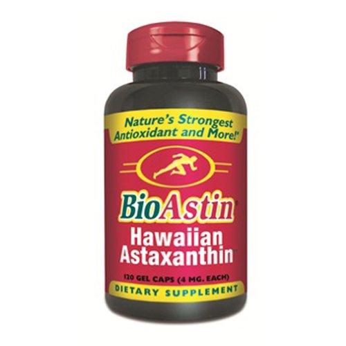 BioAstin - 120 Kapseln mit 4 mg natürlichem Astaxanthin I das Original aus Hawaii I Zellschutz I versandkostenfrei I nach EG-Öko-Verordnung kein Bio-Produkt