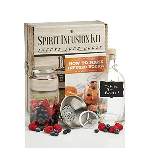 The Spirit Infusion Kit: Infuse Your Booze! 70+ Homemade Flavored Vodka Recipes. Become an Infused Alcohol Cocktail Mixologist using the 110pg Recipe and Instruction Book. Great Gift & Party Hit!