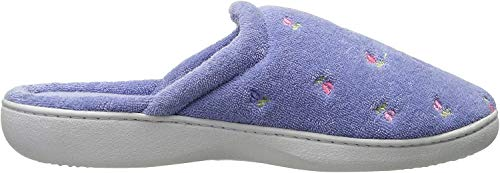 Isotoner Women's Classic Terry Clog Slippers Slip, Periwinkle, X-Small /...