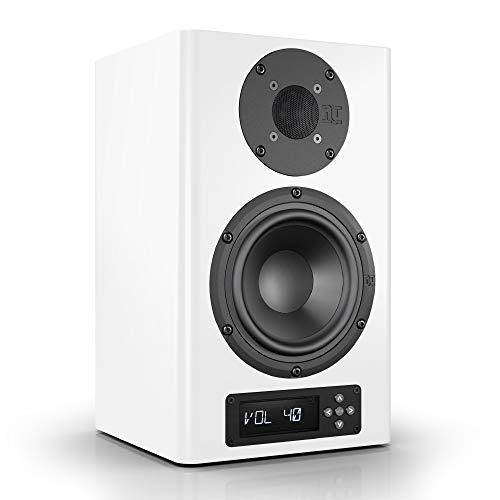 Nubert nuPro A-200 Regallautsprecher | Lautsprecher für Stereo & Musikgenuss | Schreibtischlautsprecher für Homeoffice | aktive Regalbox mit 2 Wege Technik | Kompaktlautsprecher Weiß | 1 Stück