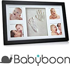 Marco de fotos. Juego de portarretrato para huella de la mano y pisada de bebé de ® Babyboon. Paquete de 4 colores