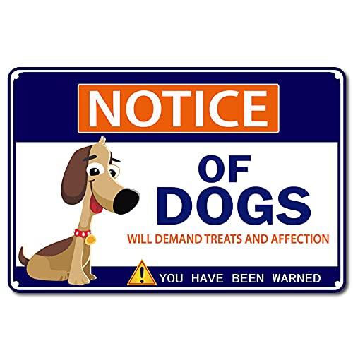 GORGECRAFT, Señal de Advertencia para Perros, Aviso de Perros, Cartel de Advertencia, Estaño,...