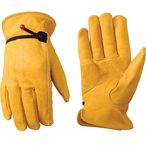 Leather Work Gloves with Adjustable Wrist Now $9.96 (Was $16.71)
