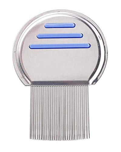Pengcheng Lice Comb - Stainless Steel Professional Lice Combs and Head Lice Treatment to Effectively Get Rid of Hair Lice and Nits, Best Results for Infection and Re-infection in Kids & Adults