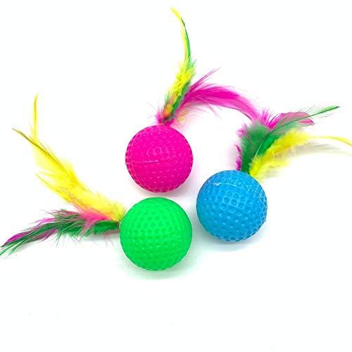 AN-JING Katze ausgesprochenen Spielzeug Farbe Golf Badminton amüsante Katze Gadgets Puzzle Spielspaß endlos tierhandlung (Color : Color Mixing, Size : 3.5 * 12cm)