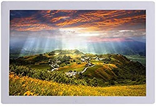 ZHTY Digital Photo Frames,19-inch 1366 × 768 Resolution 1080P Can Be Placed Vertically Advertising Machine Electronic Album 16: 9 HD LED LCD Display Timing Power On and Off Clock Calendar HDMI Inter