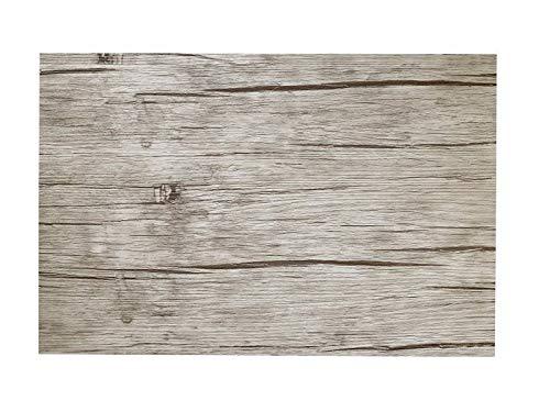 Leone placemats 30 x 45 cm, grijs, houtlook, vaatwasmachinebestendig, 12 stuks