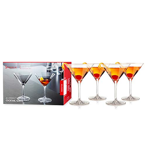 Spiegelau & Notte Uomo, Bicchiere di Cristallo, Perfect Serve, Vetro, Trasparente, 14 x 10.3 x 10.3 cm