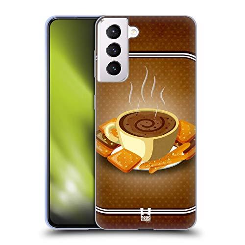 Head Case Designs Biscotto Dolcetti Vintage Cover in Morbido Gel e Sfondo di Design Abbinato Compatibile con Samsung Galaxy S21+ 5G