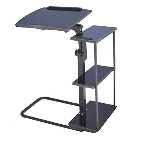 Carl Artbay Home & Selected Furniture/verstelbare laptoptafel, beweegbare laptop stand bureau wagen slaapbank bijzettafel W / wielen voor bed slaap ziekenhuis lezen (kleur: D)