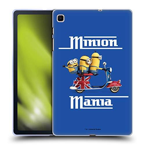 Head Case Designs Licenciado Oficialmente Minions Union Jack Scooter Minion Invasión Británica Carcasa de Gel de Silicona Compatible con Samsung Galaxy Tab S6 Lite