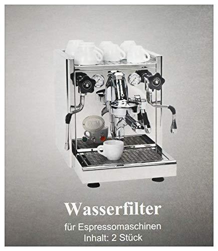 ECM Filter Entkalkerpatrone für Espressomaschine - eine Packung - Lieferumfang 2 Filter