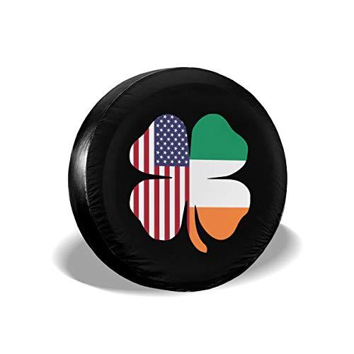 Bosb-00 American Irish Flag Shamrock Tire Cover Fit Truck Jeep SUV Ect.