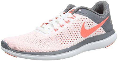 Nike Mädchen Flex 2016 Run Laufschuhe, Weiß (White/Volt Black), 35.5 EU