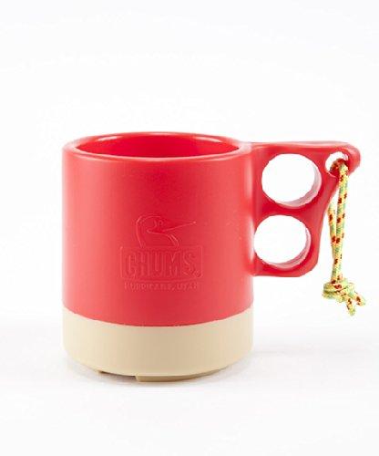 【チャムス】 CHUMS CAMPER MUG CUP 2 CH62-0149 キャンパーマグカップ (Red/Beige)