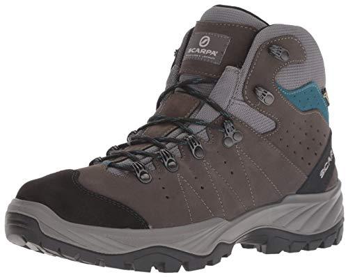 SCARPA Men's Mistral GTX Walking Shoe, Smoke/Lake, 42 Regular EU (US M 9, UK 8 US)