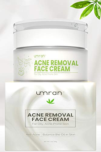 UMRAN Anti-Acne Treatment Cream, Acne Removal, Fighting Breakouts, Spots, Cystic Acne with Natural ingredients and Advanced Herbal Formula, Anti-aging Moisturizer Cream with Organic Ingredients