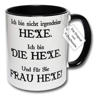 CRP Lustige Kaffeetasse mit Spruch Ich Bin Nicht irgendeine Hexe. Ich Bin die Hexe. Und für Sie Frau Hexe! Hexentasse Geschenk (A: Schwarz-Weiß)