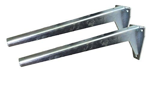 Sunload Regalbodenträger Schwerlastträger L-Profil Konsole Stahl verzinkt (2 x 380 mm)