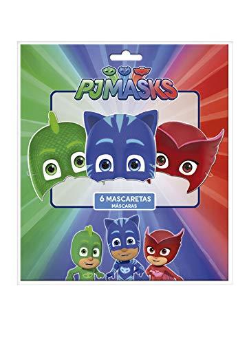 PJ Masks 0910, Pack 6 caretas Fiestas y cumpleaños,