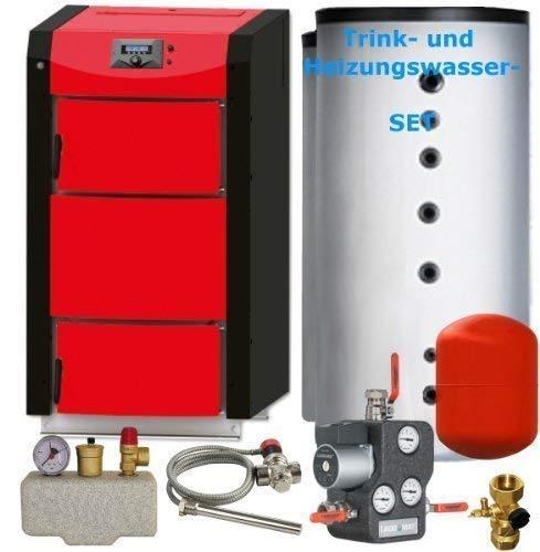 Holzvergaser PID LOGIC Vergaserkessel mit 25 kW Pyrolysekessel Thermoflux Set 2