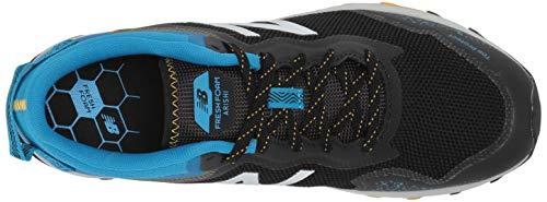 New Balance Men's Fresh Foam Arishi V1 Trail Running Shoe, Black/Vision Blue/Black, 8 UK