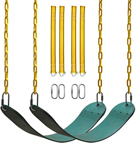 PACEARTH 2 Pack Swings Seats Holds 660lbs with 68 9 inch Anti Rust Chains Plastic Coated 23 product image