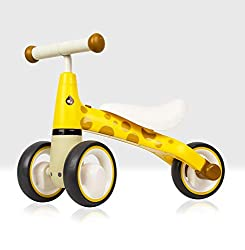 This uniquely designed baby balance bike can help teach babies and toddlers balance at their own pace Can help encourage walking, coordination, balance and motor skills With a comfortable saddle, designed to perfectly fit any small child and cushione...