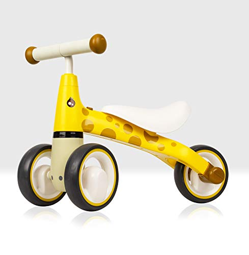 Beehive Toys & Gifts My First Bike, Giraffe, Baby Walker Balance Bike, Baby and Toddler Ride on Trike for ages 12 - 24 months Yellow