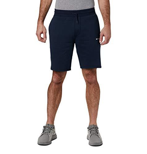 Columbia Herren Columbia Logo, Fleece-Shorts, Baumwollmischung, marineblau (Collegiate Navy)