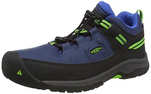 KEEN Unisex kinderen Targhee, Imperméable Trekking- & wandelschoenen, Blue Opal/Bright Green