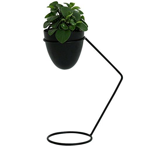 Stand d'usine Lampe de table style minimaliste fer cadre fleur stand pour intérieur salon d'extérieur (NOIR) Étagère à fleurs à plusieurs niveaux (taille : 15 * 15 * 45)