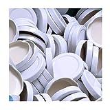 100 Stück X to 53 mm Weiß Schraubdeckel für Gläser • Twist Off Deckel Verschluss Ø 53mm • Ersatzdeckel To53 • 25,50,100,150,200,250,500 Stück • Große Auswahl Verschiedene Größen und Farben