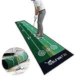 AHWZ Indoor Golf Putting Green Set con El Putter, Equipamiento De La...