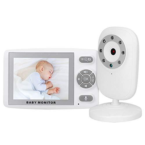 Monitor de bebé inalámbrico LCD de 3,5 pulgadas, visión nocturna por infrarrojos, conversación bidireccional, cuidado del bebé, detección de llanto, cámara de vigilancia para bebés(EU)