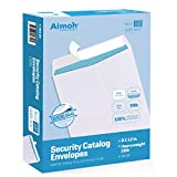 100 9 x 12 SELF Seal Security White Catalog Envelopes - 28lb - Security Tinted, Ultra Stro...