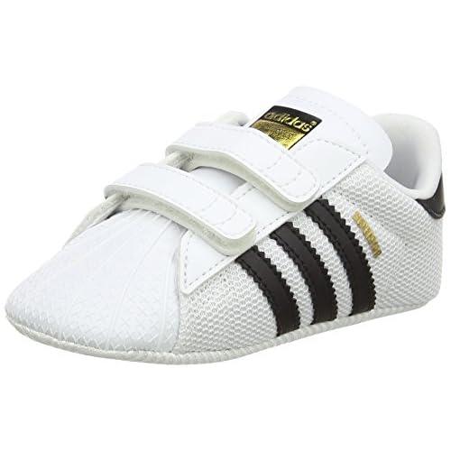 adidas Superstar, Scarpe Unisex – Bambini, Bianco (Footwear White/Core Black/CloudWhite), 17 EU