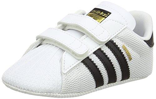 adidas Unisex Baby Superstar Crib Krabbel- & Hausschuhe, Weiß (Ftwbla/Negbas 000), 18 EU