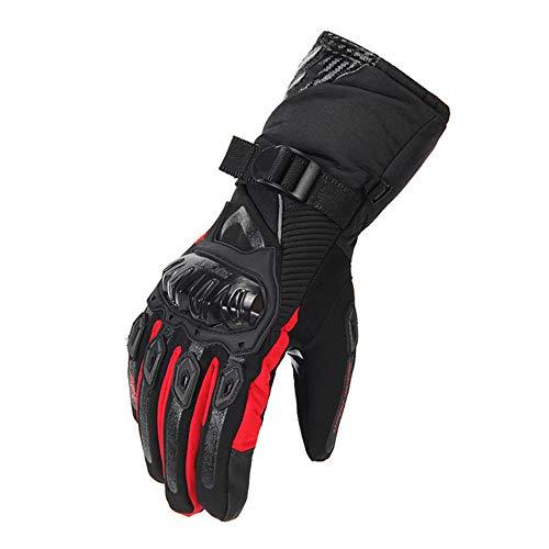 ZTXMTST echt lederen motorhandschoenen mannen, 100% waterdicht winddicht winter moto handschoenen touchscreen - antislip mountainbike motorfiets handschoenen
