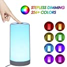Touch Lamp, Tomshine Bedside Lamp with Dimmable Warm White, White, 256 RGB Colour Changing and Memory Function Night Light for Bedrooms