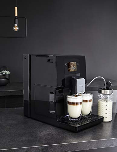 Krup Intuition Preference EA8738 Cafetera superautomática, pantalla táctil color, máquina de café con indicadores lumínicos, 11 bebidas personalizables, 8 recetas personalizadas