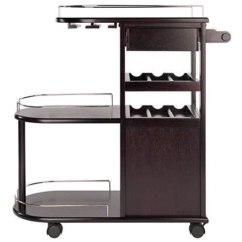 New Spec WF40490 Minibar Serving Cart Black