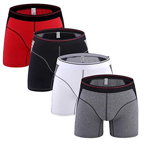 TIGERROSA 4 Teile/los Männer Lange Bein Boxer Baumwolle Shorts Männer Unterwäsche Mittlere Taille Unterhose Lange Boxershorts Boxer Stil H @ M