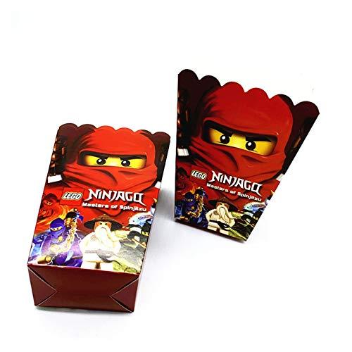 MUYANDZ Globo 10 unids/Lote 12inch Boys Kids Ninjago Theme Cumpleaños Fiesta de cumpleaños Látex Ninjago Ballons Fiesta Vajilla Baby Shower Party Supplies (Color : Popcorn Box 6pcs)