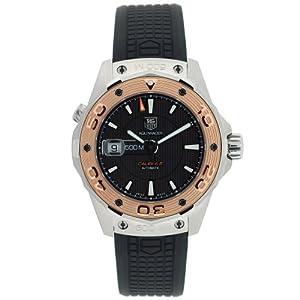 TAG Heuer Men's WAJ2150.FT6015 Aquaracer Calibre 5 Automatic 500M Gold Bezel Watch image