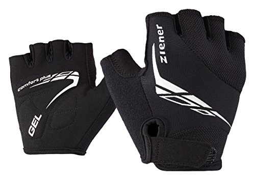 Ziener Kinder CANIZO Fahrrad-, Mountainbike-, Radsport-Handschuhe | Kurzfinger - atmungsaktiv/dämpfend, black, L