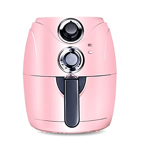 Freidora de aire 2.5QT, freidora saludable sin aceite de 1200 W para freír y cocinar, con control de temperatura y temporizador, cocina antiadherente, para freír, asar, asar a la parrilla