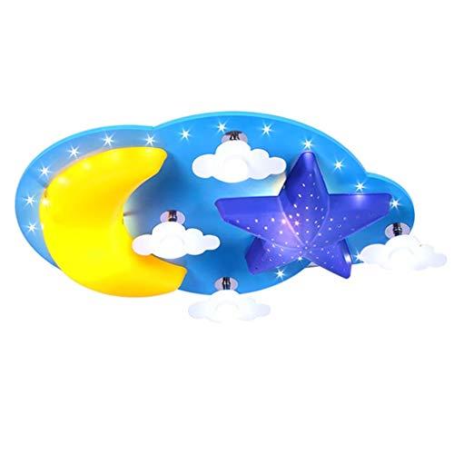 LLAN Moderne LED Eye Économie D'énergie LED Lampe Pépinière Plafond Suspension Star Moon Enfants Lampe De Bande Dessinée Créatif LED Plafond Angle Starry Sky Lampe Pépinière Cloud Cloud Mois
