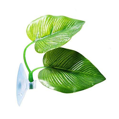 Wankd Décoration pour aquarium, Betta Bed Hamac Form Feuille pour Aquariophilie,Betta Bed Leaf Hammock – Hamac en Forme de Feuille pour Le Repos du Ton Betta (Vert)