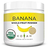 NEW - KOYAH - Organic Freeze-dried Banana Powder (1 Scoop = 1/4 Cup Fresh): 22 Servings, 220 g (7.8 oz)